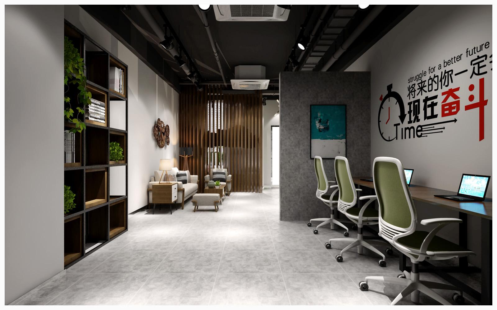 青岛办公室装修中的工业工厂风赏析