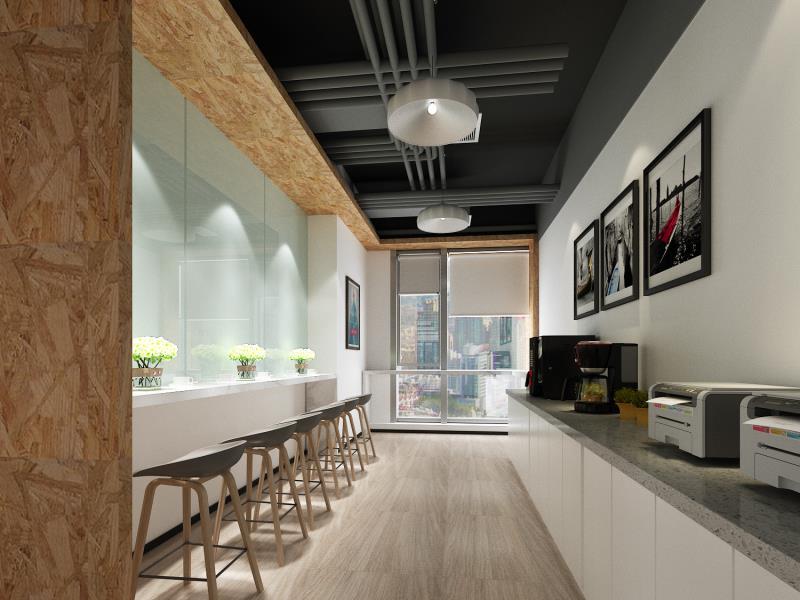 青岛装饰公司之广告传媒公司简约及简易型办公室装修