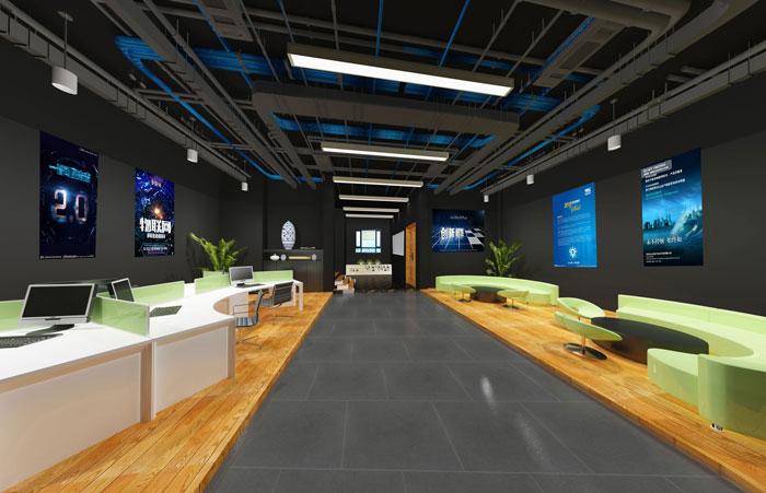 办公展示空间装修设计效果图